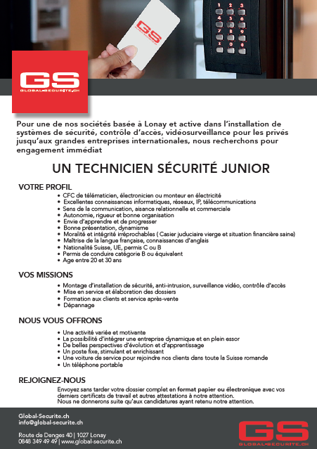 global-securite.ch technicien