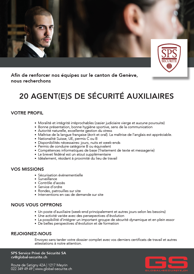 offre emploi louboutin geneve